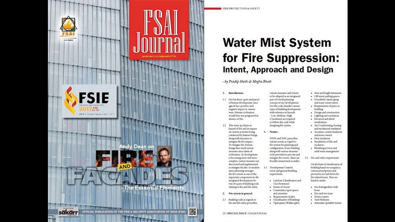 Article published in FSAI Journal