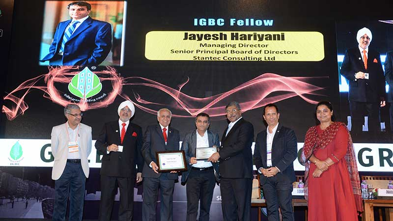 Jayesh Hariyani nominated as the IGBC Fellow in the annual conference of IGBC